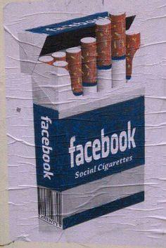 Facebook social cigarettes, artist unknown