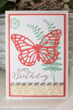 LizDesign Stampin Up Butterfly Basics Card In Colors 2015-2017