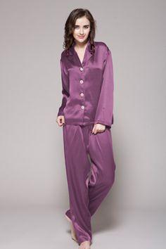 商品番号: 2109【22匁】レディース シルクパジャマ【フロントボタン】http://www.lilysilk.jp/22-momme-long-classic-silk-pajama-set