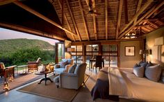 Kwandwe in the center of South Africa's malaria-free area near Grahamstown. Situated on 23 100 hectares of the vast African wilderness. The reserve is a member of the exclusive Relais & Chateaux portfolio. African House, River Lodge, Private Games, Game Reserve, Lodges, South Africa, Safari, Farmhouse, Places