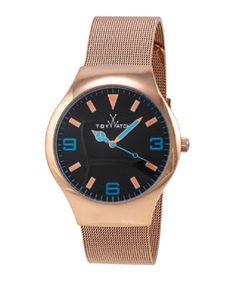 Y2CFR ToyWatch Rose-Golden Mesh Bracelet Watch, 40mm