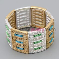 Nice cuff decorate different color alloy with special shape