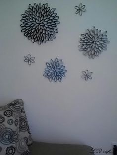 Toilet Paper Roll Wall Art! Variations of purple for my room.