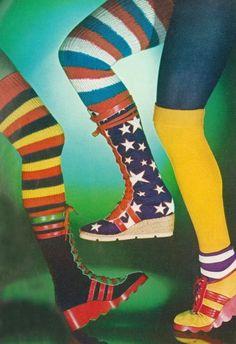 Super Seventies - Platform sneakers and socks for Vogue UK, 1972.