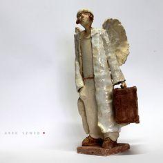 Angel/Ceramic Sculpture /Unique Ceramic Figurine /Ceramic Angel by arekszwed on Etsy