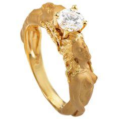 Carrera y Carrera Diamond Gold Engagement Ring | 1stdibs.com