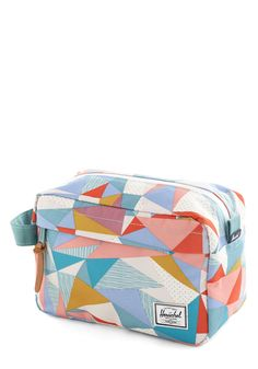Prism and Blues Makeup Bag. Pack this colorful makeup bag from Herschel Supply Co. #multi #modcloth