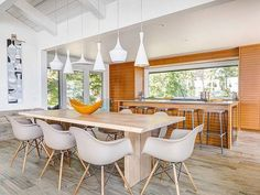 80 Awesome Modern Kitchen Island with Seating Ideas - Page 4 of 80 Kitchen Island With Seating For 6, Narrow Kitchen Island, Country Kitchen Island, Portable Kitchen Island, Stools For Kitchen Island, Modern Kitchen Island, Kitchen Seating, Kitchen Islands, Building A Kitchen