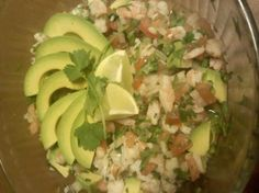 Shrimp Ceviche from Food.com:   This recipe is from the Jicama Grill, I think this is the best Shrimp Ceviche recipe in the world...it is like a colorful fiesta in a bowl.