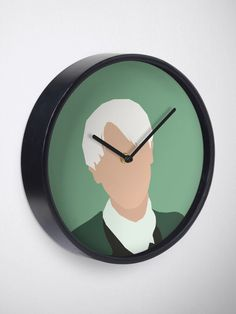 """""""Draco Malfoy"""" Clock by ind3finite   Redbubble Canvas Prints, Art Prints, Draco Malfoy, Cotton Tote Bags, Clocks, Duvet Covers, Wall, Artist"""