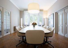Boardroom #vitra #softshell chair and #eames #segmentedtable