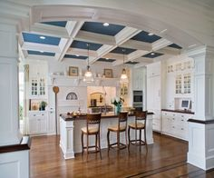BW_DEANE, Inc. Love the blue ceiling!