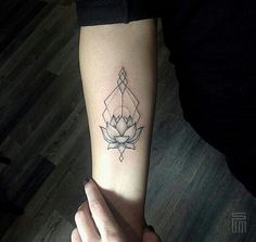 Sum tattoo linework geometric