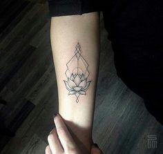 Sum tattoo linework geometric