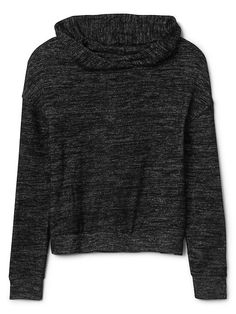 Softspun cowlneck hoodie