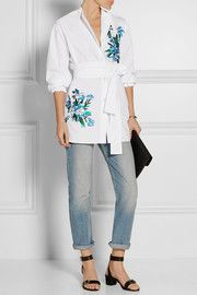 Jonathan Saunders embroidered shirt