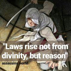 Assassins.world - Instagram - Assassins Creed - Quotes - Hidden Blade - Brotherhood - Assassins quotes - Desmond Miles - AC1 - AC2 - AC3 - #assassinsreed - Altair Bin La'Ahad Assassins Creed Quotes, Hidden Blade, Ac2, Darth Vader, Assassin's Creed, Unity, Video Games, Gaming, Entertainment