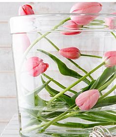 tulips modern display easter from living at home magazine