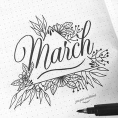 Hello March! #bujo #bulletjournal #march #brushlettering #giaogiaowonderland