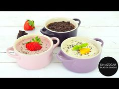 Postres Saludables Porridge Saludable de Fresas, Chocolate y Yogur en 10 min