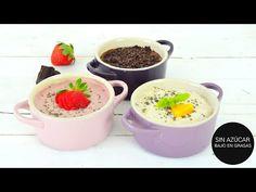 Postres Saludables Porridge Saludable de Fresas, Chocolate y Yogur en 10 min