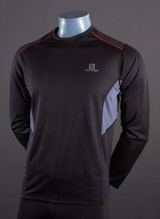 Salomon Trail Long Sleeve T-Shirt - Mens Running Clothing - Black-Dark Cloud Dark Cloud, Running Clothing, Mens Running, Black Dark, Adidas Jacket, Trail, Clouds, Tees, Long Sleeve