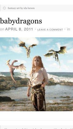 Love the artwork of Denmark's Ida Larsen.  Very talented!