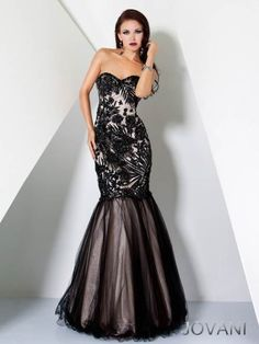 2014 New Style Jovani Prom Dresses Two Tone Beaded Evening [17937] ☻  ☂. ✿  ☻