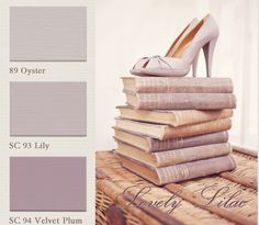 Moodboard Lovely Lilac www.paintingthepast.nl