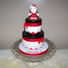 Red & Black Hello Kitty Ladybug Cake