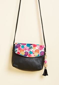 Confetti Charmer Crossbody Bag by Disaster Designs from ModCloth