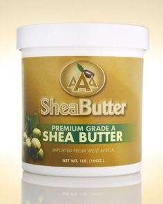 AAA Shea Butter Premium Grade A Unrefined Shea Butter, Net WT. 1LB (16oz) by AAA Shea Butter Company -- Awesome products selected by Anna Churchill