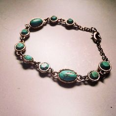 A personal favorite from my Etsy shop https://www.etsy.com/listing/223136953/repurposed-turquoise-worn-gold-finish