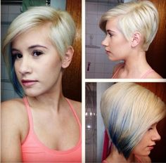 Cute Asymmetrical Haircuts for Short Hair - Ombre Hairstyles 2015 LOVE!!!!