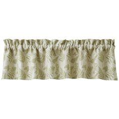 Fern Lined Window Curtain Valance 60 x 14 Valances & Cornices, Curtain Valances, Fox Decor, Natural Home Decor, Window Curtains, Ferns, Type 100, Park, Rod Pocket