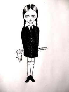 Wednesday Friday Addams by adnamaamanda.deviantart.com on @deviantART
