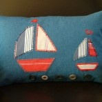 Sail Away Cute Cushions, Handmade Cushions, Pillow Talk, Softies, Room Inspiration, Nautical, Patches, Throw Pillows, Unique Jewelry