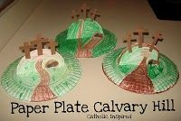 Calvary Hill Paper Plate Craft