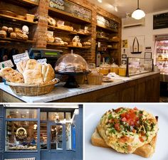 Blue Ribbon Bakery Market is the only toast bar in New York that I know of. The Blue Ribbon boys, Bruce and Eric Bromberg, conceived of it as a place where they could spread deliciousness on toast made from all the terrific breads they bake in the hundred-year-old coal oven. #imustvisitsoon!