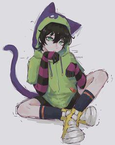 Otaku Anime, Anime Guys, Anime Art, Manga Anime, Cute Anime Character, Character Art, All Anime Characters, Neko, Infinity Art