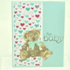 Baby Bear Shower Card Teddy Bear Card Handmade New Baby