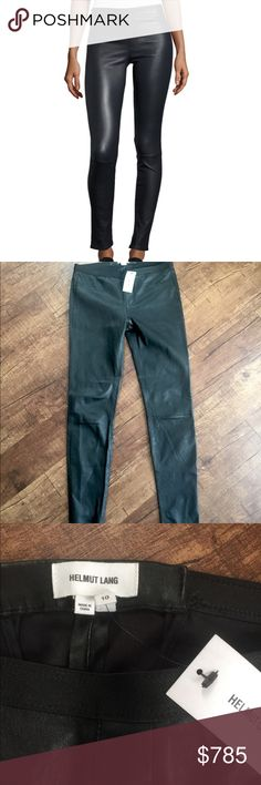 b88b49bbb3bcc Helmut Lang Lamb Leather Leggings Helmut Lang leggings in lamb leather.  Size 10. Approx