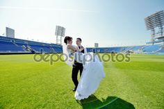 Image result for football stadium wedding pictures