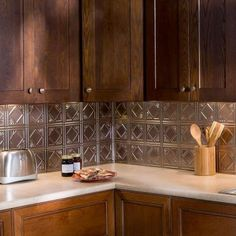 Traditional 4 PVC Decorative Backsplash Panel In Brushed Nickel B51 29    The Home Depot
