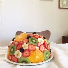 Easy Sweets, Sweets Recipes, Cake Recipes, Fruit Sandwich, Summer Pie, Jelly Cake, Baked Strawberries, Desert Recipes, Food Dishes