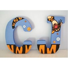 Tigger freestanding wooden letters for a nursery <3