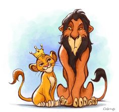 simba and scar by Colorlumo Sketch