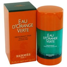 EAU D'ORANGE VERTE by Hermes Deodorant Stick (Unisex) 2.5 oz (Men)