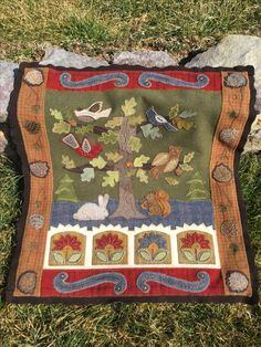 My Rebekah L Smith 2016 mystery block wall hanging