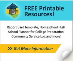 Free templates and downloads for many of the planning tools and resources high school homeschoolers most need.
